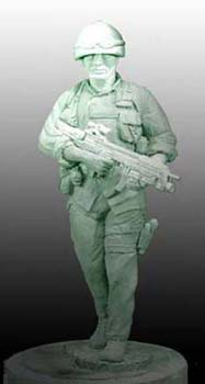 OP Soldier, Military Sculpture